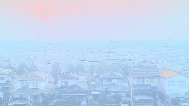 大乗寺丘陵公園から 水彩風