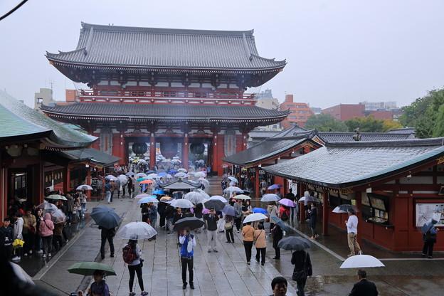 雨の浅草寺 宝蔵門