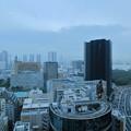 銀座から 隅田川(東京湾?)が見えました。