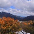 Photos: 早雲山駅から 雪と紅葉