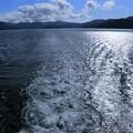 芦ノ湖  船の航跡