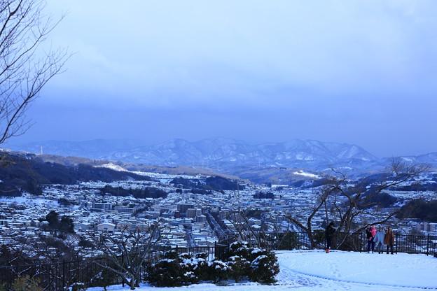 卯辰山 見晴台 雪