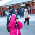 写真: 可愛いカメラ女子
