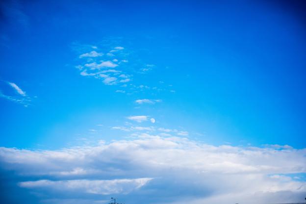 冬の合間の青空