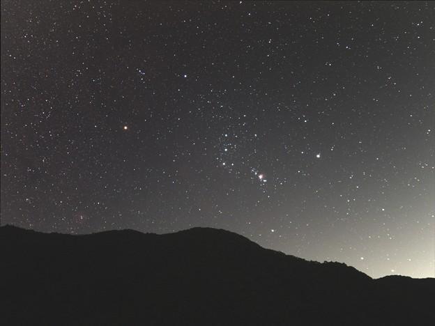 虚空蔵山から昇るオリオン