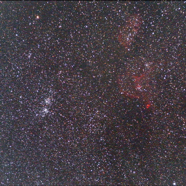 ペルセウス座二重星団とハート星雲