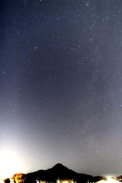 写真: 有馬富士と天の川