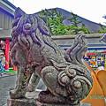 Photos: 狛犬と富士山