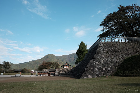 松代城_二の丸から戊亥隅櫓と高麗門、北不明門を見る-2395