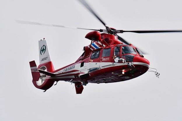 レッドブルエアレース 決勝前の消防ヘリのデモストレーション 20160605