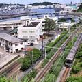 軍港の横須賀と鉄道。。