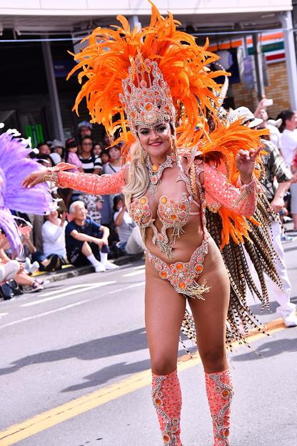 サンバ美女。。ダイナマイツ。。(笑)横須賀おっぱま祭り 20160710