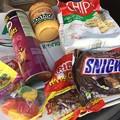 撮って出し。。アメリカから出国。。本場のお菓子類。。8月6日撮って出し。。あ
