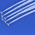 航空ページェント。。ブルーインパルス デルタループから1回転。。