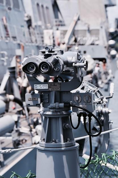 ヨコスカフレンドシップ 掃海艇えのしまの双眼鏡。。20160806