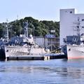 軍港めぐりに乗って。。掃海艇はつしま、掃海艦はちじょう。。退役した掃海艦 20160806