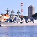 軍港めぐりに乗って。。吉倉桟橋護衛艦たかなみとてるづき。。20160806