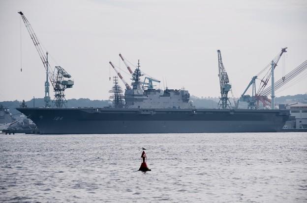 撮って出し。。この日最後は試験中の新鋭ヘリコプター護衛艦かが 9月25日