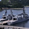吉倉桟橋の護衛艦やまぎりとおおなみ。。20160821