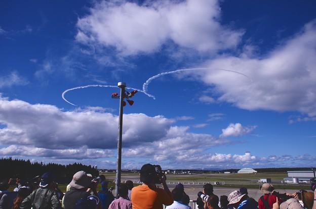 予行練習 曇り低く第3区分変更 ハート描くブルーインパルス