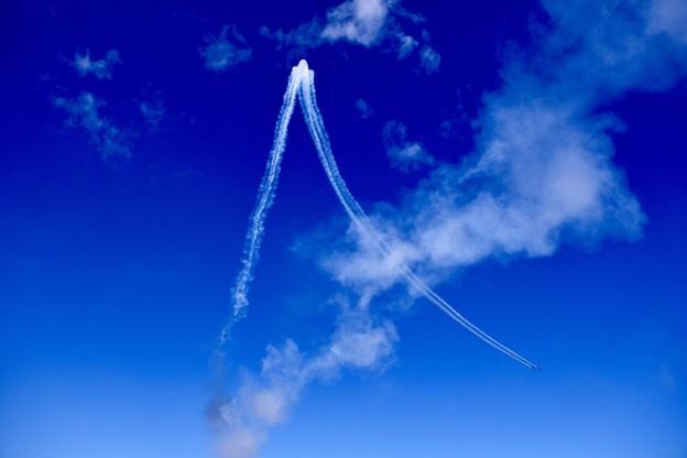 ダイヤモンドロールの軌跡。。三沢基地航空祭