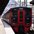 門司港終点。。鹿児島本線の列車。。20161007