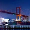 Photos: 北九州の若戸大橋。。夜のライトアップ 20161007