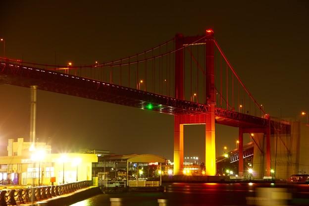 北九州の赤い若戸大橋。。夜景 20161007