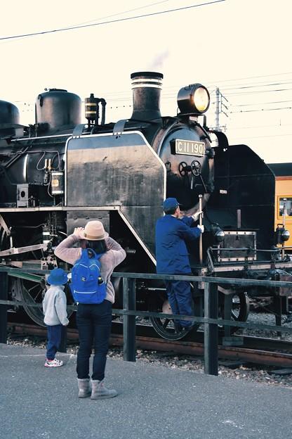 親子でSLを見に来て。。大井川鉄道SL 新金谷駅