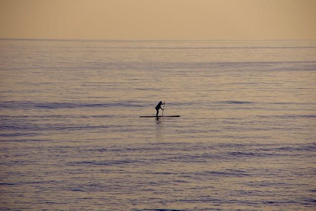 夕暮れの江ノ島の海で。。ゆっくりとマリンスポーツを。。20170107