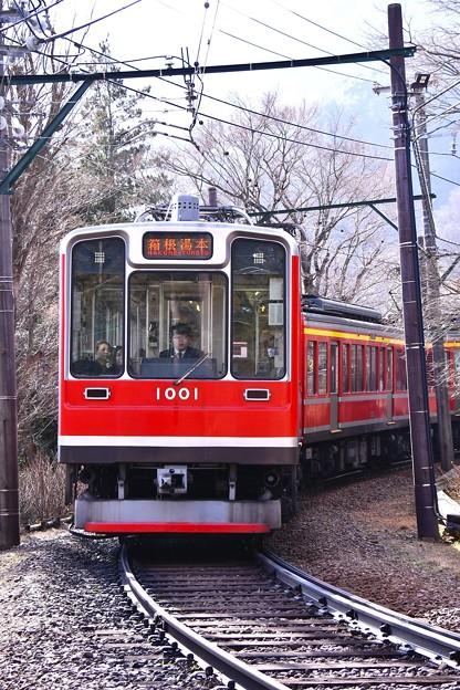 箱根登山鉄道大平台駅へ。。1000形ベルニナ号 現行塗装仕様 20170129