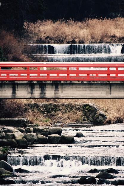 箱根湯本の温泉街を流れる川。。早川 20170129