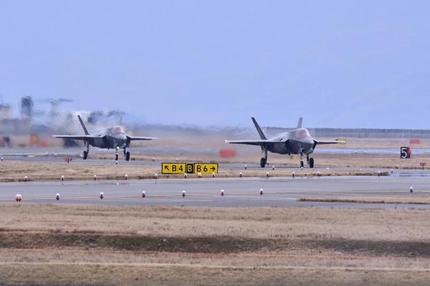 岩国基地。。2回目のローカル帰投 タキシング F-35B VMFA-121 Greenknights 20170208