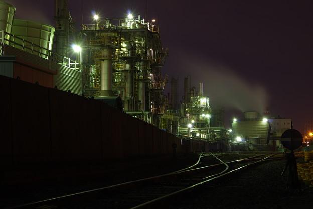 撮って出し。。久しぶりの工場夜景。。(^^)3月4日