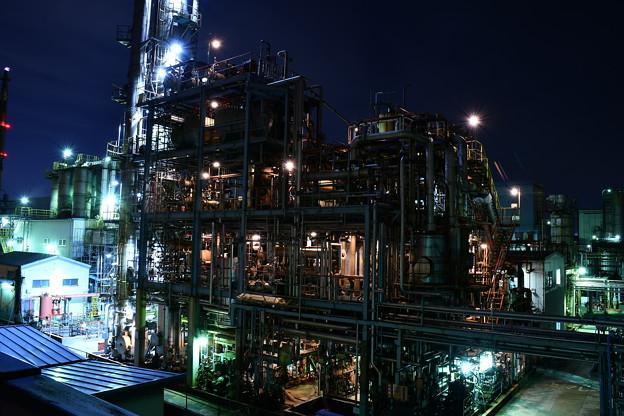 撮って出し。。川崎の千鳥町の工場地帯 3月4日
