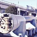 横須賀に里帰りした旧日本海軍戦艦 陸奥の主砲。。モニメントへ 20170212