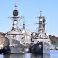 朝の横須賀基地。。正面メザシはかっこいい 護衛艦はたかぜとやまぎり 20170212