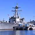米海軍横須賀基地。。ミサイル駆逐艦フィッツジェラルド 20170212