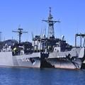Photos: 軍港めぐりから見る長浦港の海洋観測艦わかさ、にちなん。。20170212