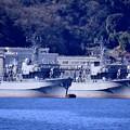 Photos: 軍港めぐりに乗って見る長浦港 スクラップ待ちの元掃海艦やえやま、つしま。。20170212