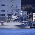 Photos: 軍港めぐりから見る長浦港の木造掃海艦はちじょう。。もう引退間近 20170212