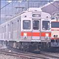 撮って出し。。やっと会えたこいつ。。(^^)旧東急7200系  3月11日