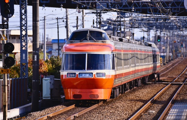 箱根湯本へ向かって。。小田急ロマンスカーLSE 7000系 いよいよ来年引退!? 20170219
