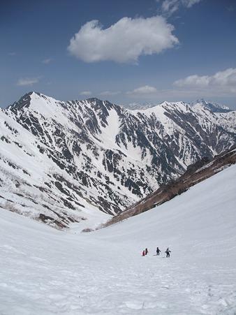 針ノ木雪渓と爺ヶ岳