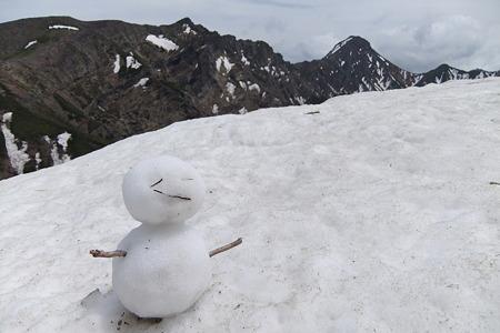 赤岩ノ頭の雪だるま