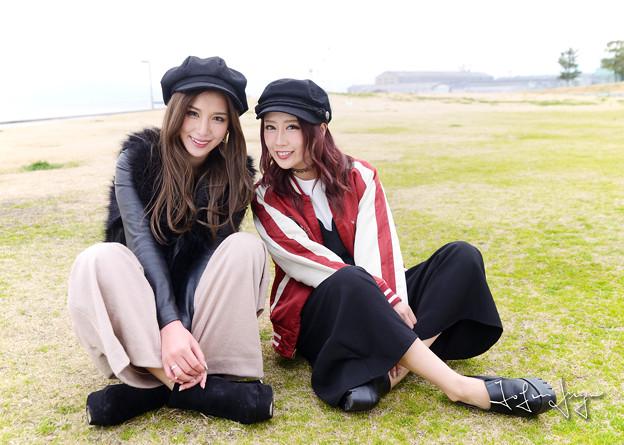 写真: 杏奈さん雅さん2ショット笑顔