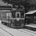 Photos: 雪の沢入駅にて