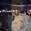 写真: 花と夜景
