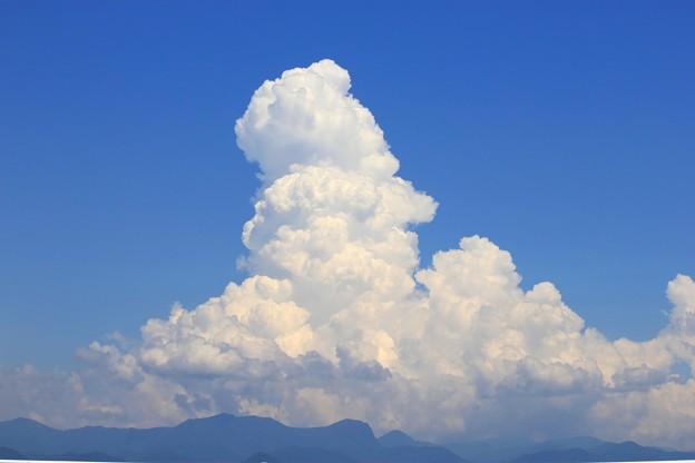 夏の雲・・・男の人の横顔に似た雲