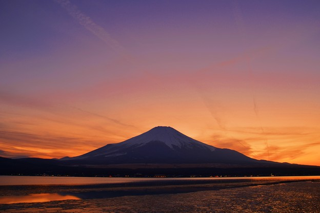 写真: Mt.Fuji of January ~Yamanakako Side ~